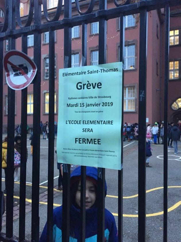 Grève à l'école Saint-Thomas, tous les enseignants en grève (Photo CN / doc remis)