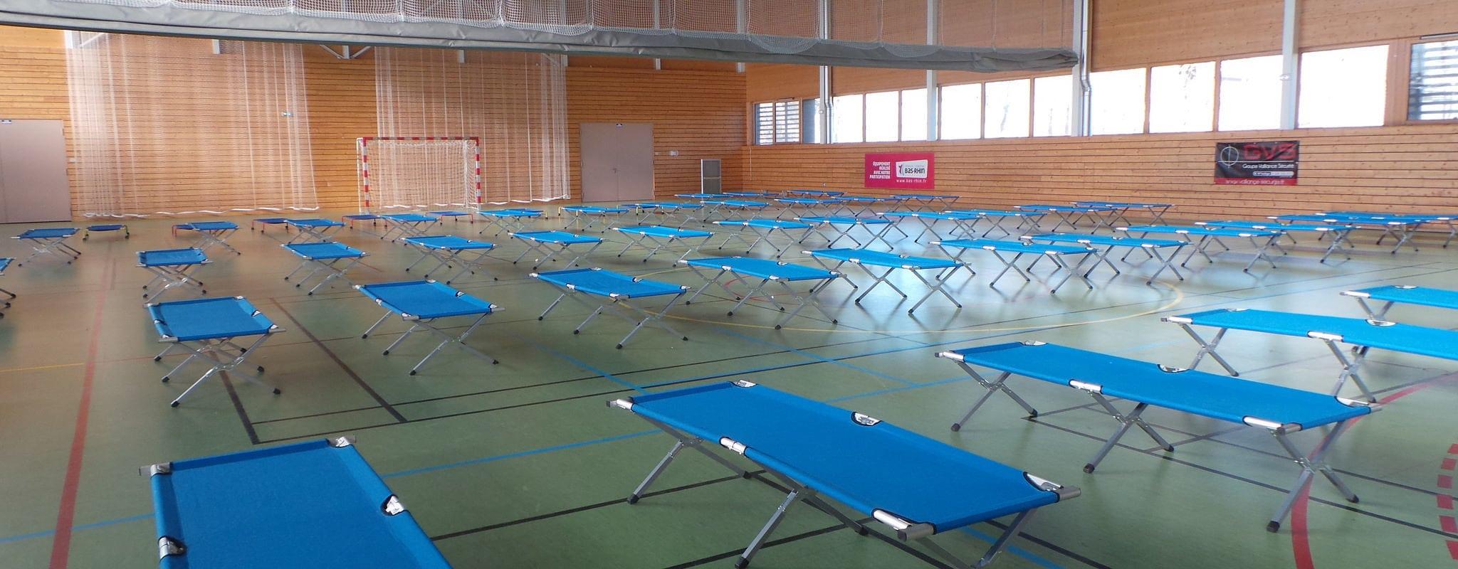 Un gymnase réquisitionné pour abriter les migrants