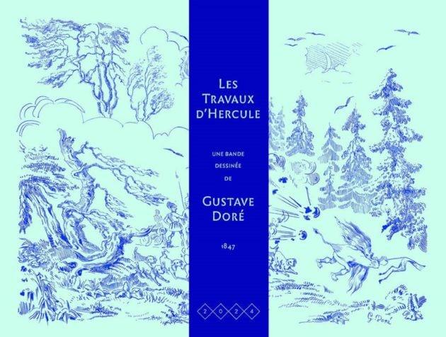"""Couverture des """"Travaux d'Hercule"""" de Gustave Doré."""
