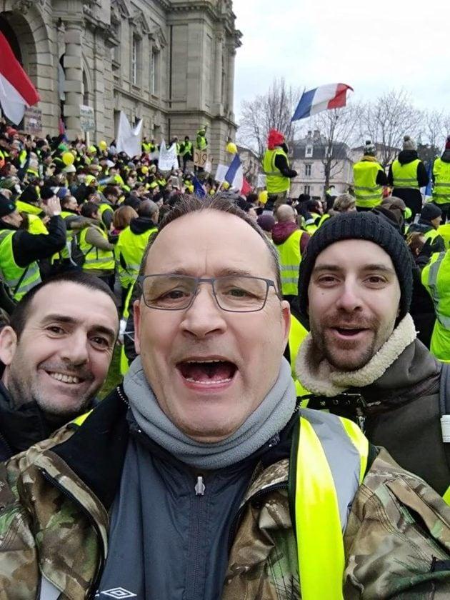 Christian, samedi 5 janvier place de la République lors de l'acte VIII des Gilets jaunes (Photo Facebook / doc remis)