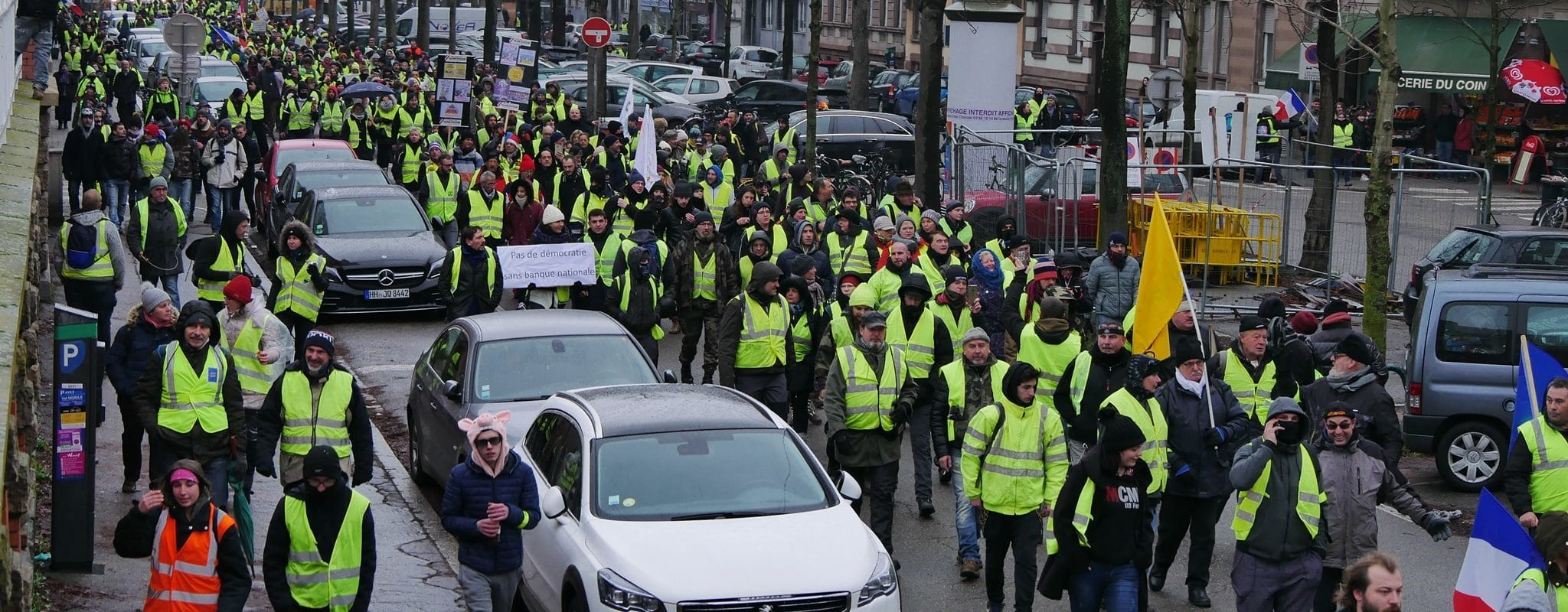 Entre 1500 et 2000 Gilets jaunes à Strasbourg pour «l'acte IX»