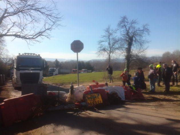 Quelques opposants ont retardé les travaux du chantier du viaduc (photo Thibault Vetter)