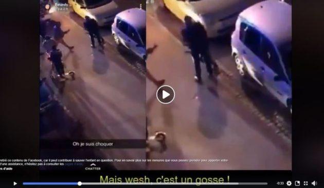 Une vidéo très partagée montre l'arrestation d'un jeune enfant au Neuhof (capture d'écran)