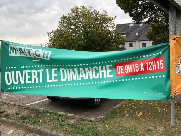 Le supermarché Match continuait d'ouvrir les dimanches, malgré l'interdiction (Photo EJ / Blog Robertsau)