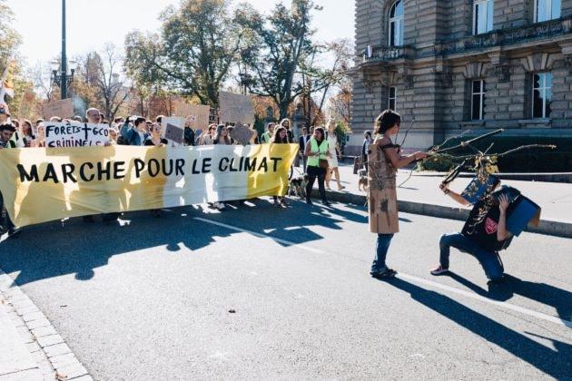 Les marches et autres événements pour le Climat se multiplient. (Photo Abdesslam Mirdass / Rue89 Strasbourg)