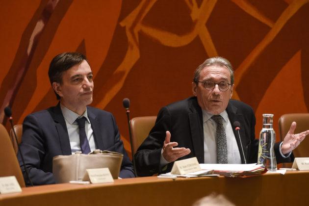 Le maire Roland Ries (à droite) a-t-il assez engagé Strasbourg dans la lutte contre le réchauffement climatique ? (photo Pascal Bastien)