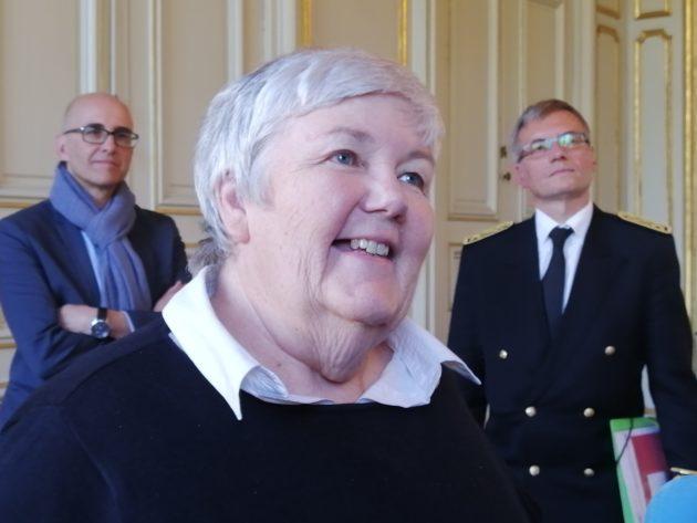 La ministre était de passage à Strasbourg, mais n'a pas fait d'annonce sur l'Alsace (photo CL / Rue89 Strasbourg)