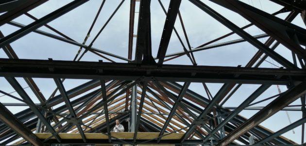 La voute du Palais des Fêtes fera 14 mètres de haut et plus de 1000 mètres carré.