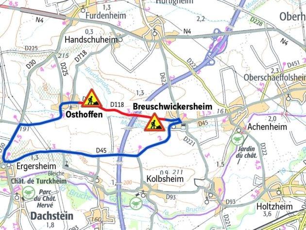 Breuschwikersheim coupé sur son flanc ouest (doc remis / Arcos)