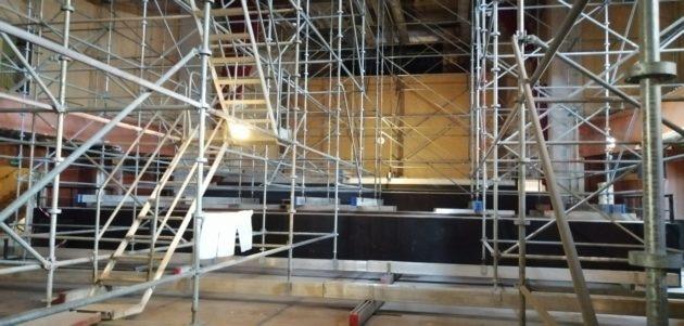 La grande salle du Palais des Fêtes, qui est pour l'instant encore en travaux, accueillera des concerts de musique classique.