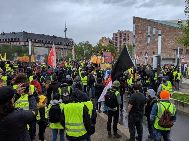 Ambiance tranquille au début de la manifestation (Photo Guillaume Krempp / Rue89 Strasbourg / cc)