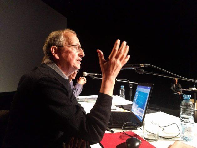 Patrick Richardet a bien su saisir son public avec ses théories sur les cancers du Linky... (Photo PF / Rue89 Strasbourg / cc)