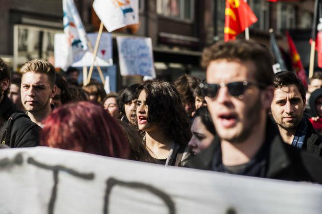 Manifester est une liberté, mais elle est encadrée. (photo Pascal Bastien / Divergence)