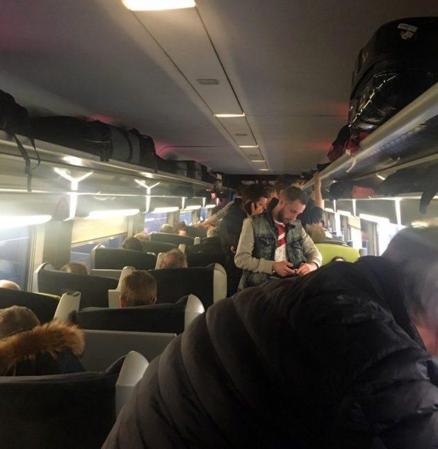 Le train spécial à destination de Metz est bondé (Photo Pernelle Richardot / doc remis)