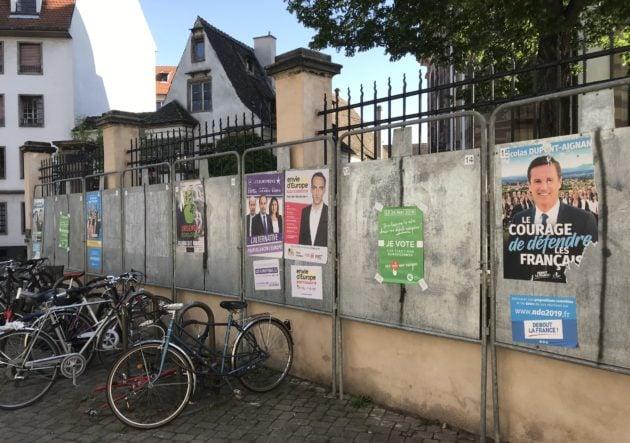 34 listes sont en compétition mais toutes n'ont pas déposé leurs bulletins ou collé d'affiches (photo JFG / Rue89 Strasbourg)