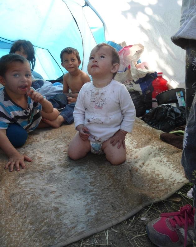 Plusieurs familles ont des enfants, parfois très jeunes. (photo Gérard Baumgart)