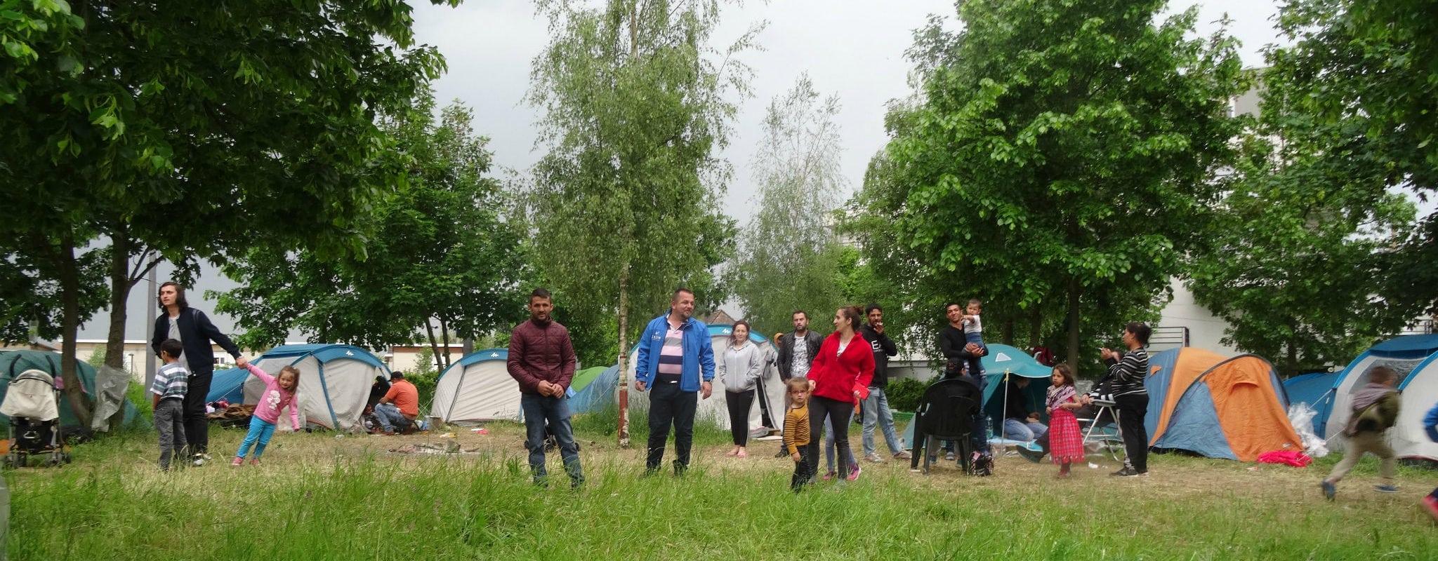 Un camp d'une soixantaine de sans-abris aux Canonniers, à l'entrée du Neuhof