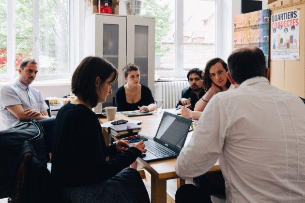 La conférence de rédaction du lundi matin à Rue89 Strasbourg (Photo Abdesslam Mirdass)