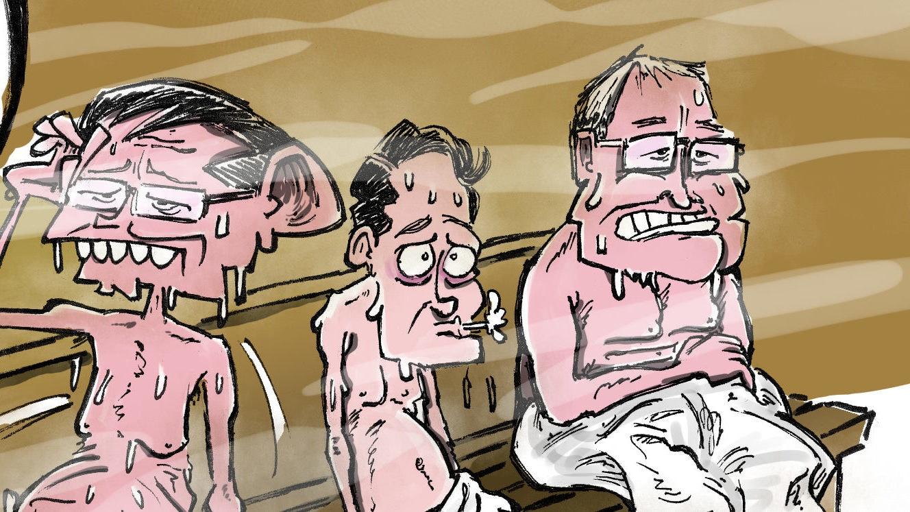 Canicule : le premier qui quitte le sauna a perdu!