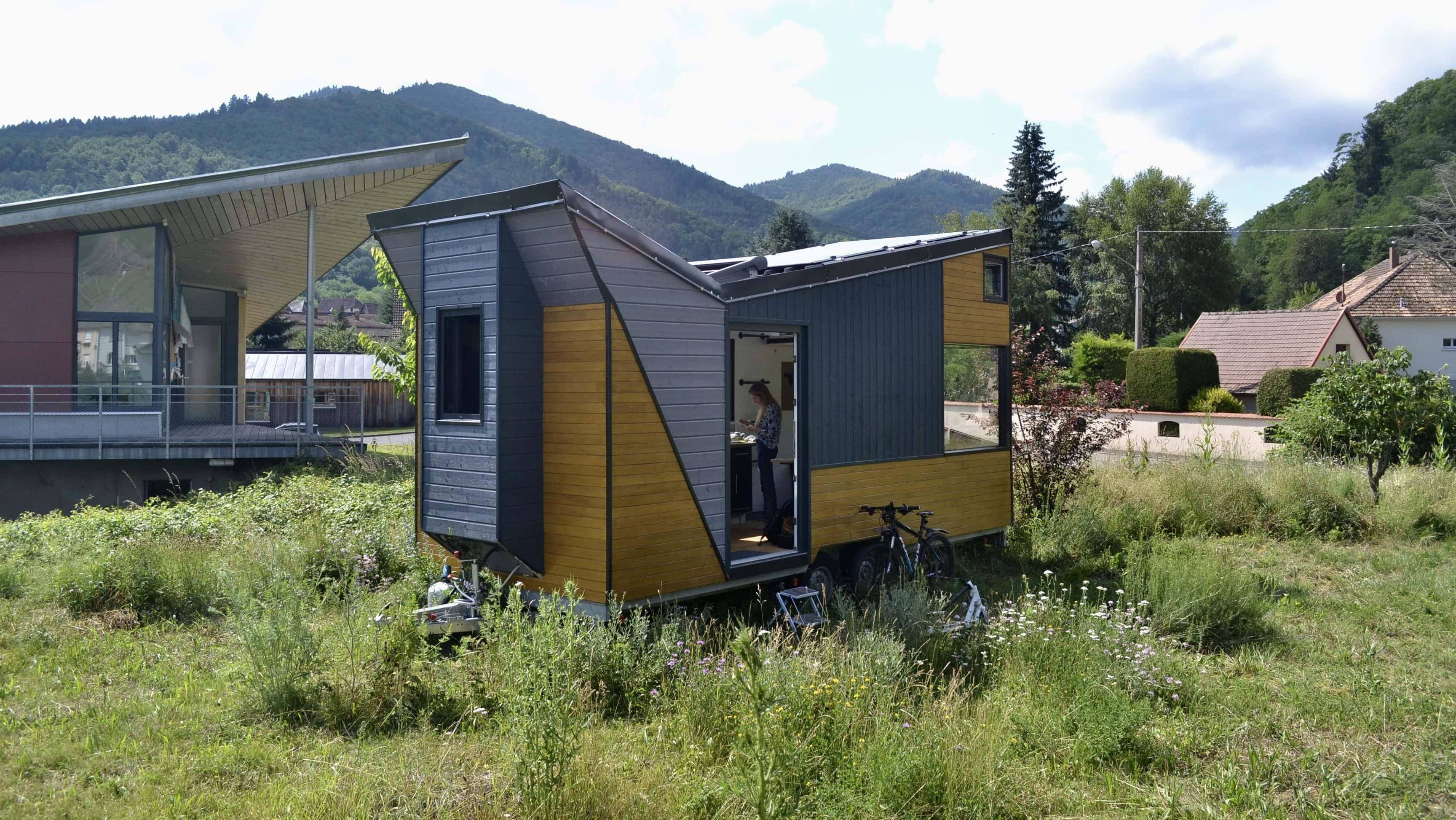 Achat Remorque Tiny House Écolos et autonomes, lars et laura s'installent dans une