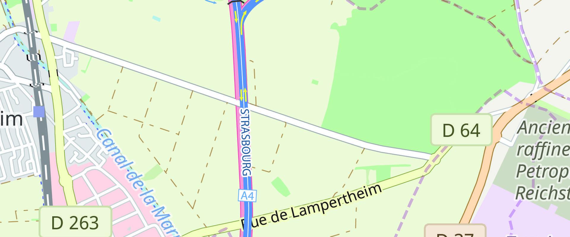Pour les travaux du GCO, fermeture d'une bretelle de l'A4 au nord de Strasbourg jusqu'à la fin août