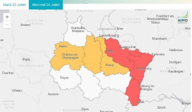 Vitesse limitée, circulation différenciée… Les mesures liées au pic d'ozone en Alsace