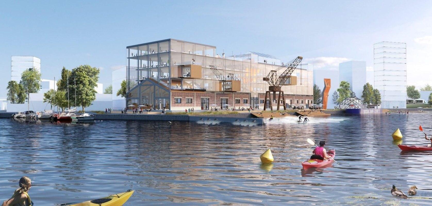 Avec vague de surf et rooftop, bientôt un nid à start-ups à Strasbourg?