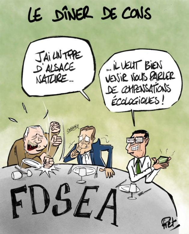 Au jeu des compensations, les demandes de la FDSEA ont été bien entendues. Celles d'Alsace Nature un peu moins.