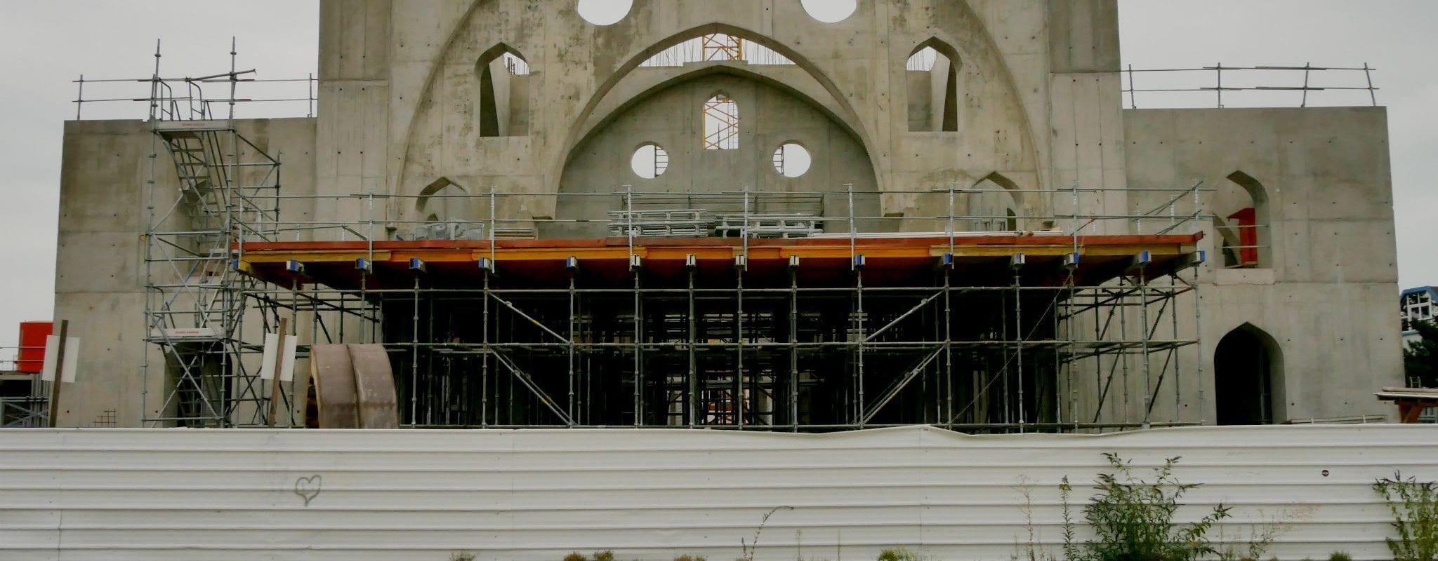 Le chantier de la mosquée Eyyub Sultan à l'arrêt