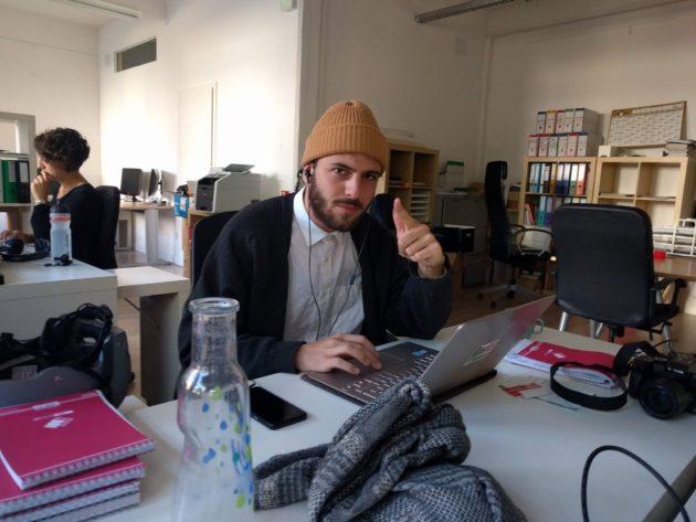 Guillaume Krempp, troisième journaliste permanent de Rue89 Strasbourg. (Photo PF / Rue89 Strasbourg / cc)