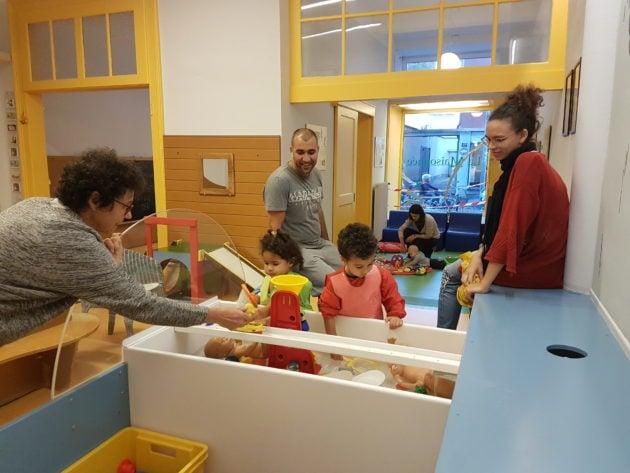 À la Maisonnée, les enfants y sont accueillis en compagnie de leur parents. (Photo FL / Rue89 Strasbourg / cc)