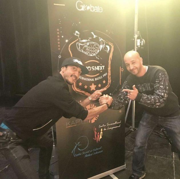 Majid Yahyaoui et Karim Barouche (à droite). En 2017, le danseur était membre du jury au Who's Next Battle Pro organisé à Haguenau. (Photo : DR)