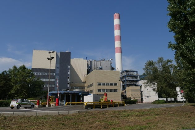 L'incinérateur de Strasbourg, opéré par la société Sénerval (Photo GK / Rue89 Strasbourg)