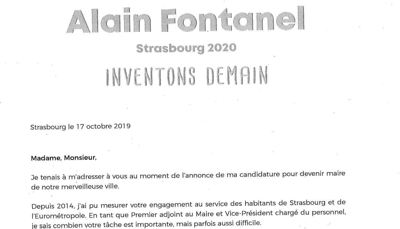 Tract d'Alain Fontanel: le déontologue saisi