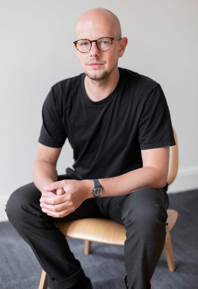 Mickaël Labbé, maître de conférence en esthétique et philosophie de l'art à l'Université de Strasbourg (Photo Emilie Vialet / doc remis)