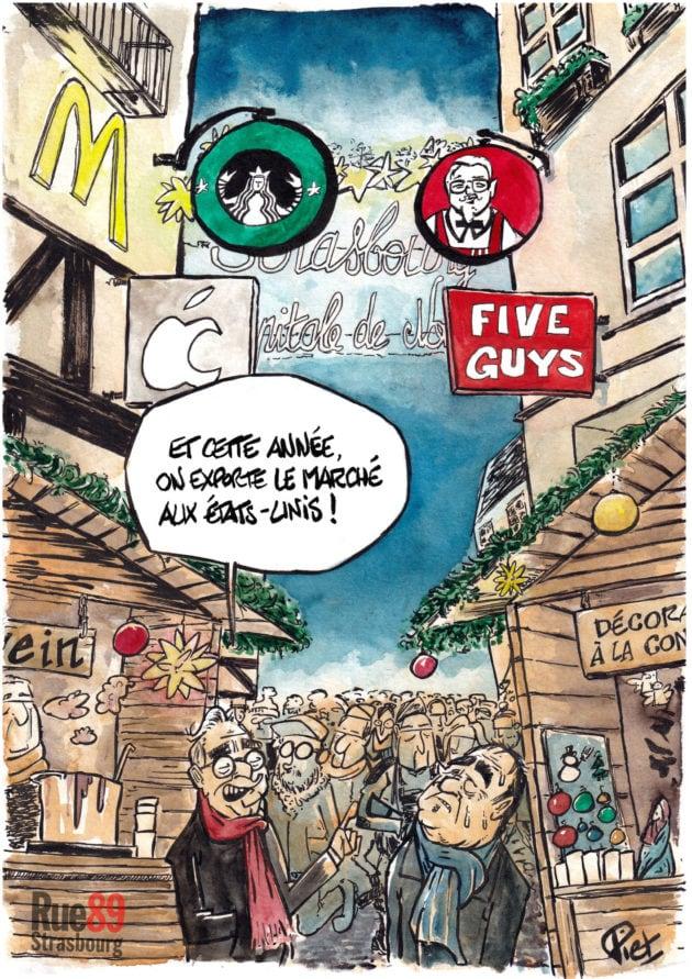La ville de Strasbourg est envahie par les grandes chaînes de magasin.