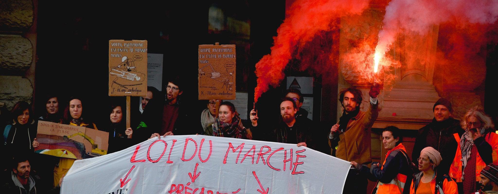 «Archéo en lutte Alsace» : ces «damnés de la terre» qui battent le pavé