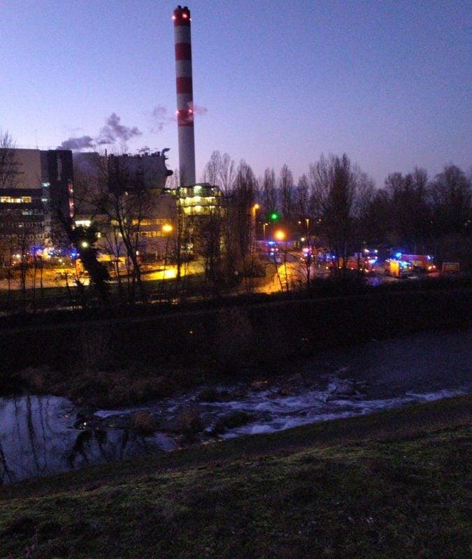 Incendie à l'usine d'incinération Sénerval
