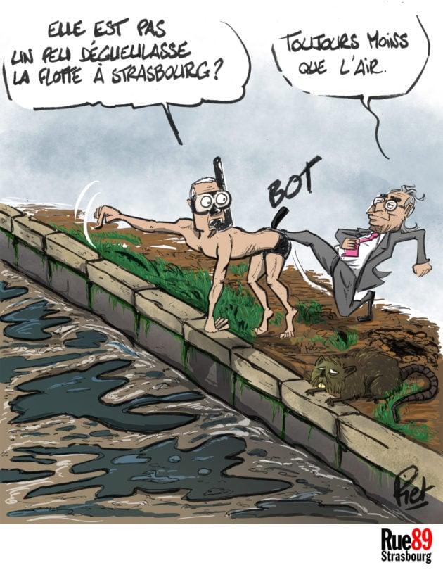 Selon le déontologue de la ville de Strasbourg, le maire Roland Ries aurait dû écouter ses services et annuler une épreuve de nage dans l'Ill, en raison des risques de pollution de l'eau.