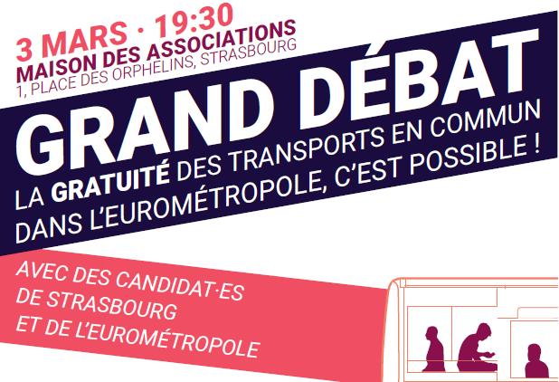 Municipales: La gratuité des transports en commun en débat mardi