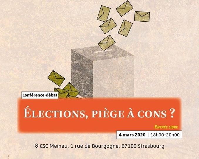 Élections piège à cons? Mercredi au CSC de la Meinau