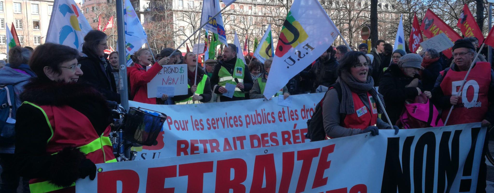 Plus de 2000 personnes toujours mobilisées contre la réforme des retraites