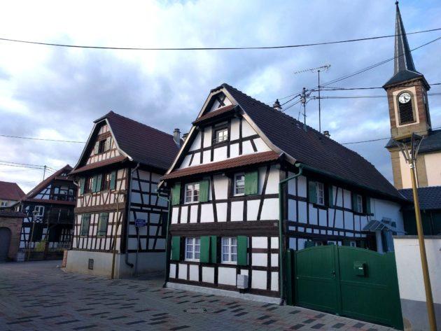 Le coeur du village de Niederhausbergen (Photo PF / Rue89 Strasbourg / cc)