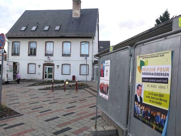 Deux listes à Niederhausbergen, ce n'était pas le cas en 2014 (Photo PF / Rue89 Strasbourg)