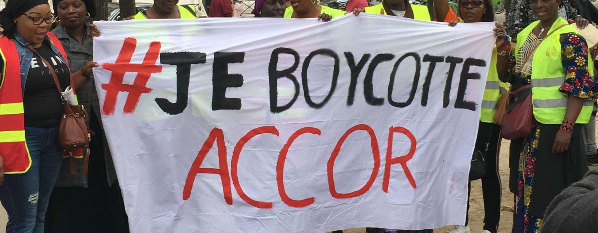 Manifestation en soutien aux grévistes de l'hôtel Ibis des Batignolles mercredi