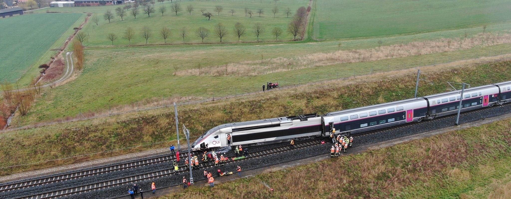 Un TGV Strasbourg-Paris déraille près de Saverne: 22 blessés dont un grave