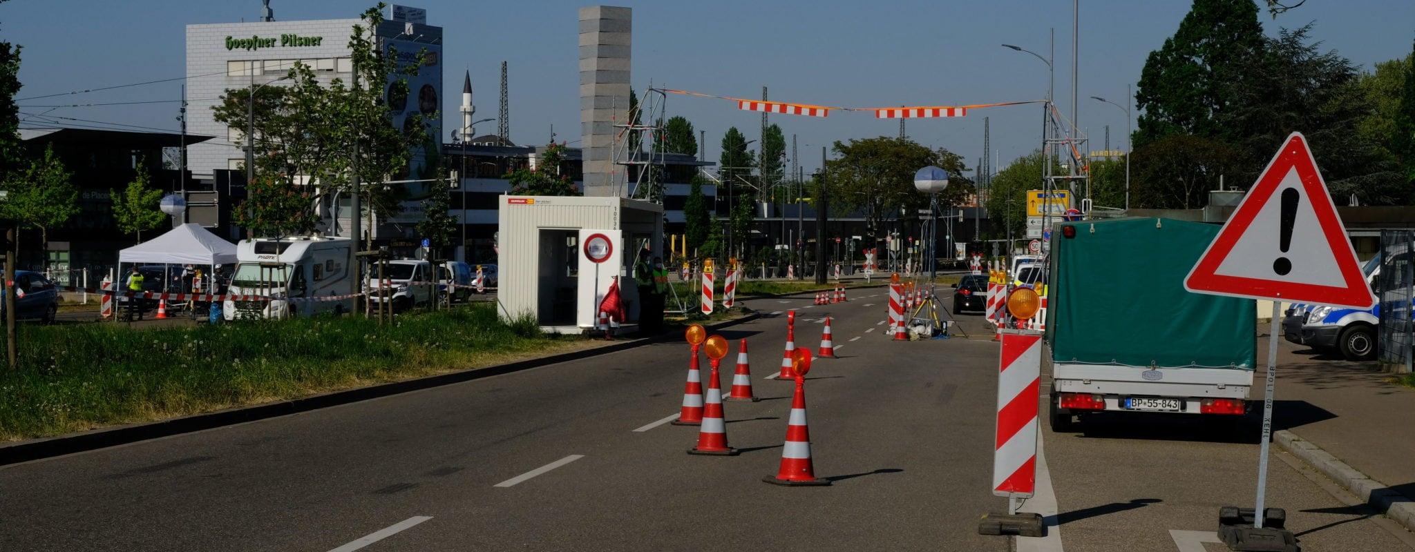 Grillages, contrôles et incompréhensions: le retour de la frontière franco-allemande