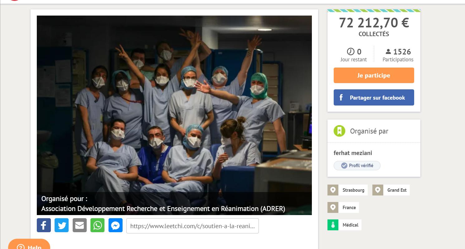 Une cagnotte Leetchi pour un service provoque un débat interne aux Hôpitaux universitaires