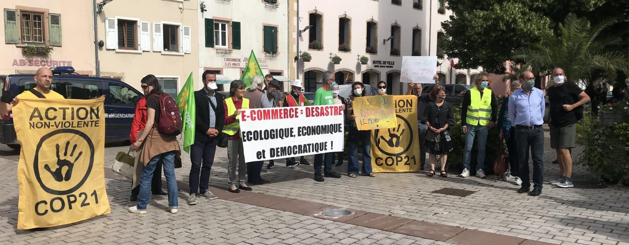 Dans l'Alsace du sud, mobilisation in-extremis face à un entrepôt géant d'e-commerce