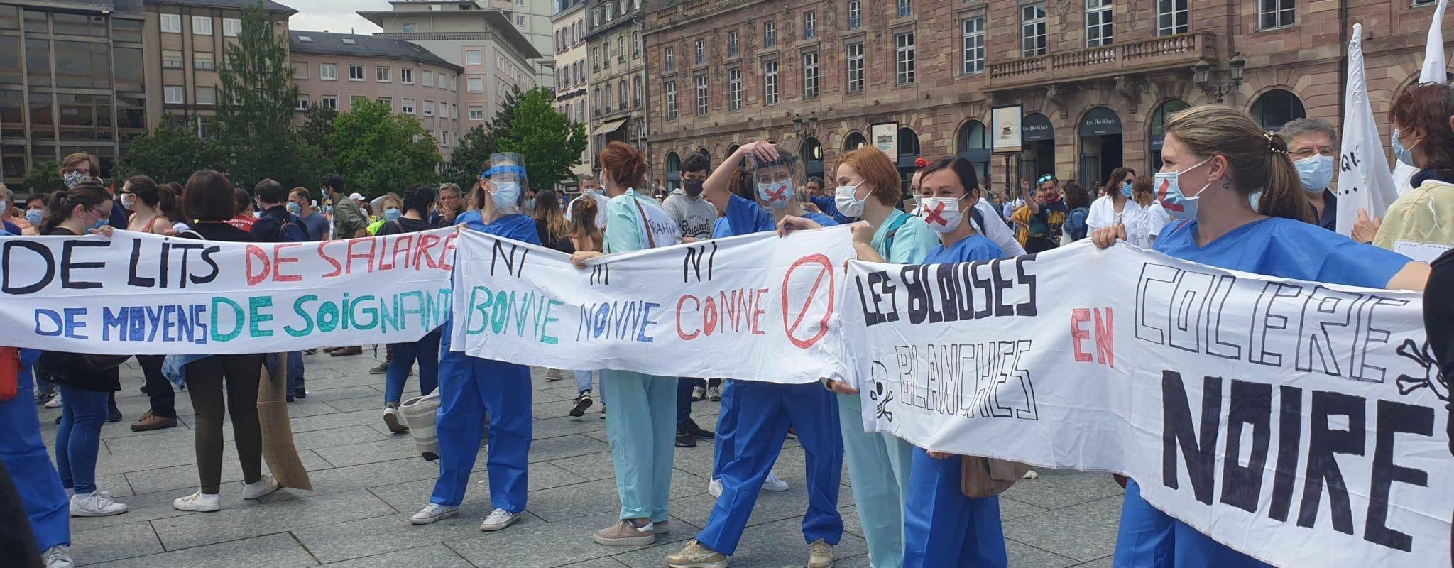 Manifestation du personnel de santé public et privé mardi à Strasbourg